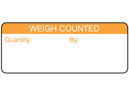 Weigh counted label