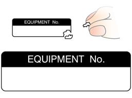 Equipment number label