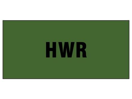 HWR pipeline identification tape.