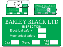 Custom write and seal label, 25mm x 50mm