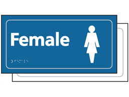 Female toilet sign.