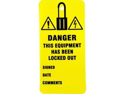 Danger, this equipment has been locked out.