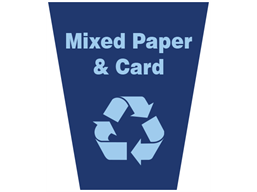 Mixed paper and card waste sack