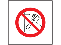 Do not switch symbol safety sign.