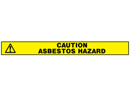 Caution asbestos hazard barrier tape