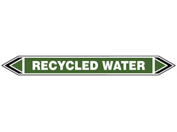 Recycled water flow marker label.
