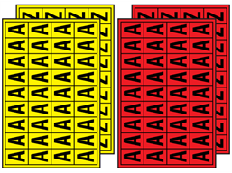 Multipurpose Letter Set 19mm X 14mm Lnl1y Label Source