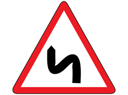 Double bend first to the left sign