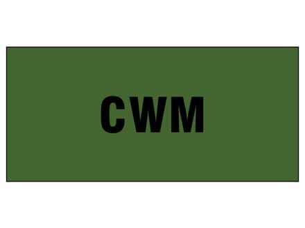 CWM pipeline identification tape.