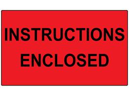 Instructions enclosed labels