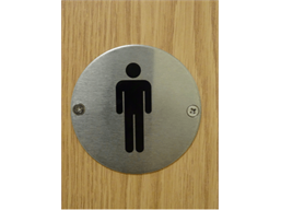 Gentleman symbol door sign.