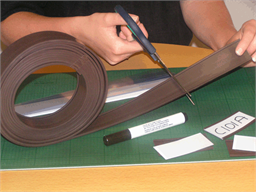 Magnetic label holders, 50m roll lengths