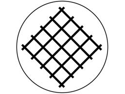 Dust protection symbol label.
