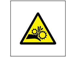 Entanglement hazard symbol safety sign.