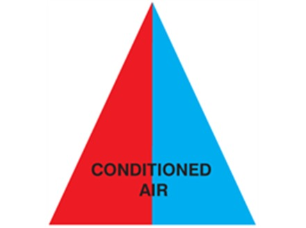 Conditioned Air (with text) Label.