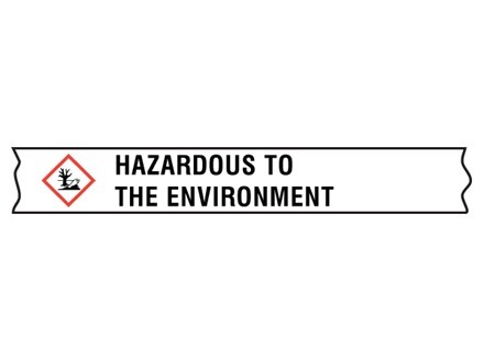 Hazardous to the environment GHS tape.