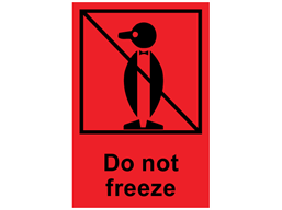 Do not freeze shipping label.