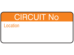Circuit number equipment label