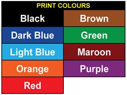 Assetmark foil serial number label (text on colour), 19mm x 38mm