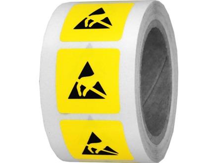 Static warning symbol labels.