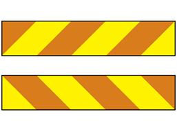 Long vehicle chevron transport sign