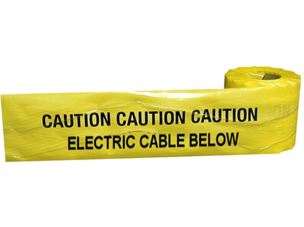 Caution electric cable below tape.