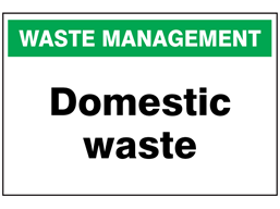 Domestic Waste Sign Wass100 Label Source