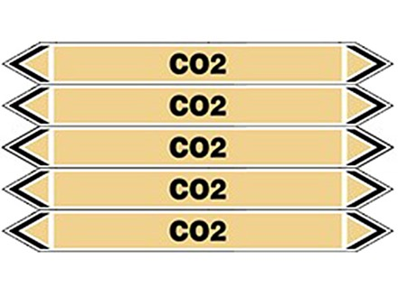 CO2 flow marker label.