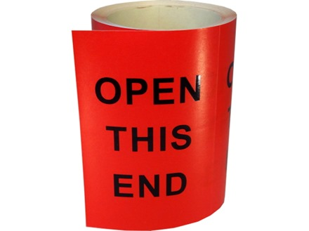 Open this end shipping label.