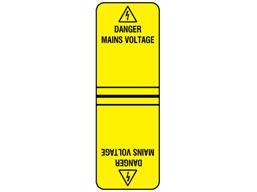 Danger mains voltage cable wrap label