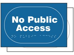 No public access sign.