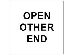 Open other end heavy duty packaging label