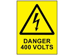 Danger 400 volts label