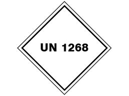 UN 1268 (Petroleum distillates - petroleum ethers) label.
