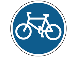 Cycle route only sign