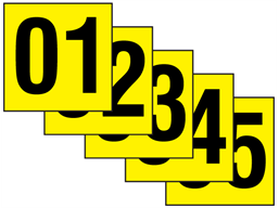 Consecutive number labels, 50mm x 50mm