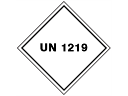 UN 1219 (Combustible liquid, ethanol, methanol, meths spirit) label.