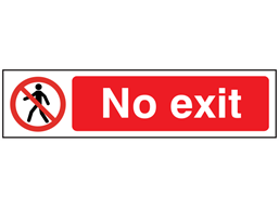 No exit, mini safety sign.
