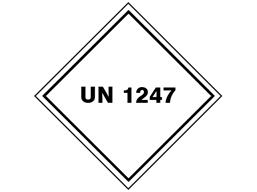 UN 1247 (Methyl methacrylate monomer) label.