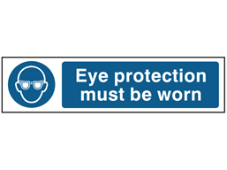 Eye protection must be worn, mini safety sign.