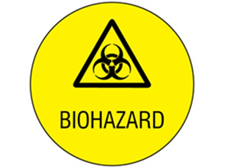 Biohazard Symbol And Text Safety Label Bll010 Label Source