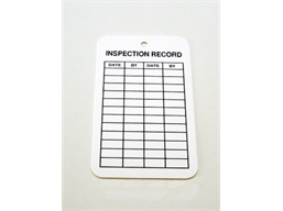 Inspection record tag.