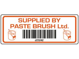 Scanmark+ barcode label (logo / full design), 19mm x 50mm