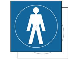 Gentlemen symbol sign.