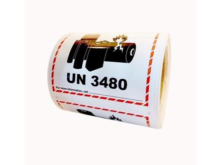 UN3480 lithium ion battery label