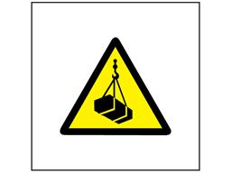 Risk of overhead load symbol safety sign.