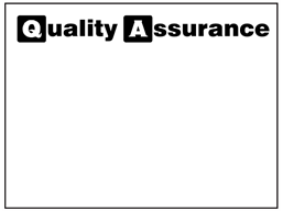 Blank quality assurance label.