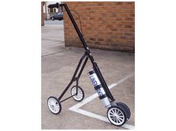 Push along 4 wheel paint applicator