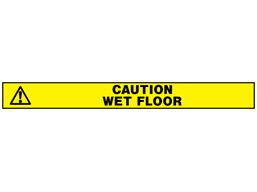 Caution wet floor barrier tape