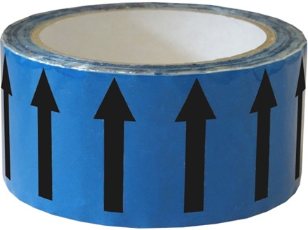 Flow indication tape for auxiliary water